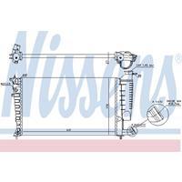 Kühler, Motorkühlung   NISSENS (61313)