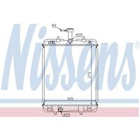 Kühler, Motorkühlung   NISSENS (64685)