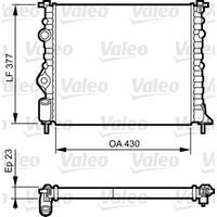 Kühler, Motorkühlung   VALEO (731378)