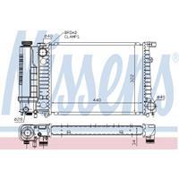 Kühler, Motorkühlung   NISSENS (60735A)