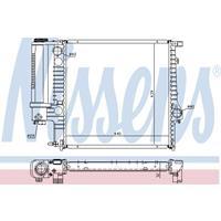 Kühler, Motorkühlung | NISSENS (60623A)