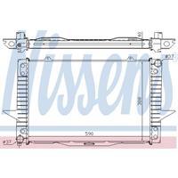 Kühler, Motorkühlung   NISSENS (65536A)