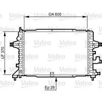 Kühler, Motorkühlung   Valeo (734380)