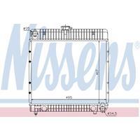 Kühler, Motorkühlung   NISSENS (62710)