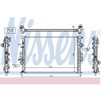 Kühler, Motorkühlung | NISSENS (65615A)