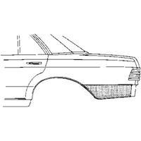 mercedes-benz Plaatwerkdeel Edes 123 76-. Ar Schermpl
