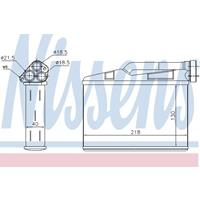 Wärmetauscher, Innenraumheizung | NISSENS (70530)
