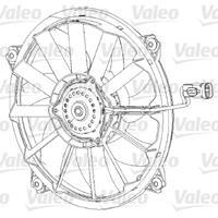 Koelventilatorwiel Valeo, 396 mm, 12 V