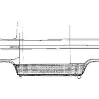 Volkswagen Plaatwerkdeel Ans/prit 80- Zijplaat Ond