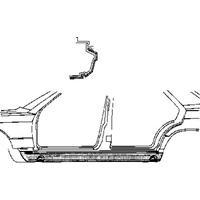 mercedes-benz Plaatwerkdeel W201 Onderdorpel Links