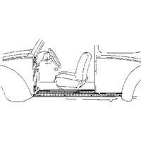 Volkswagen Oversizedeel Vw Kever Dorpel 2d