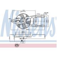 Koelventilatorwiel NISSENS, 2-polig, 260 mm, 12 V