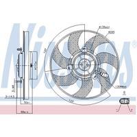 Koelventilatorwiel NISSENS, 2-polig, 290 mm