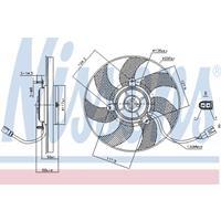 Koelventilatorwiel NISSENS, 2-polig, 290 mm, 12 V