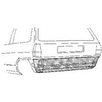 Volkswagen Plaatwerkdeel Polo 81- Plaat O Achbump