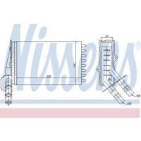 NISSENS Wärmetauscher 73374 Plattenwärmetauscher,Heizungskühler RENAULT,CLIO II BB0/1/2_, CB0/1/2_,CLIO II Kasten SB0/1/2_,THALIA I LB0/1/2_
