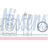 Oliekoeler, motorolie NISSENS