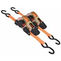 Carpoint spanbanden automatische ratel 2,5 x 300 cm oranje 2 stuks