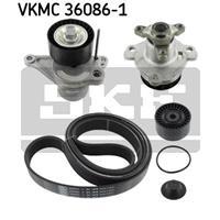Wasserpumpe + Keilrippenriemensatz | SKF (VKMC 36086-1)