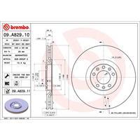 Remschijf COATED DISC LINE BREMBO, Binnen geventileerd, 340 mm