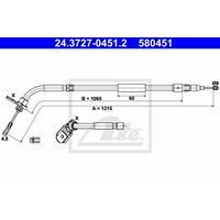 Seilzug, Feststellbremse | ATE (24.3727-0451.2)