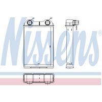Wärmetauscher, Innenraumheizung | NISSENS (70808)