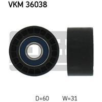 Geleide rol/omdraairol v-snaren SKF, 60 mm