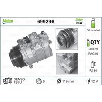 Compressor, airconditioning Valeo, 120, ml, 12 V