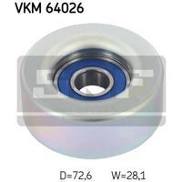 Geleide rol/omdraairol v-snaren SKF, 72,6 mm