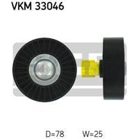 Geleide rol/omdraairol v-snaren SKF, 78 mm