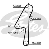 Zahnriemen 'PowerGrip' | GATES (5580XS)