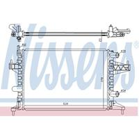 Kühler, Motorkühlung   NISSENS (63007)