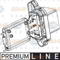 Widerstand, Innenraumgebläse 'PREMIUM LINE' | MAHLE (ABR 97 000P)