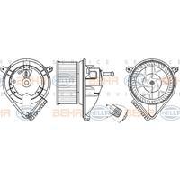 Interieurventilatie HELLA, 2-polig, 146 mm