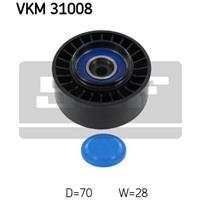 Geleide rol/omdraairol v-snaren SKF, 70,3 mm