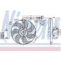 Koelventilatorwiel NISSENS, 3-polig, 350 mm, 12 V
