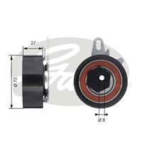 Spannrolle, Zahnriemen 'PowerGrip' | GATES (T43047)