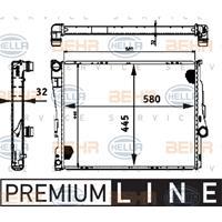 Kühler, Motorkühlung 'PREMIUM LINE' | MAHLE (CR 457 000P)