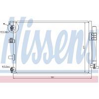 Kondensator, Klimaanlage | NISSENS (940222)