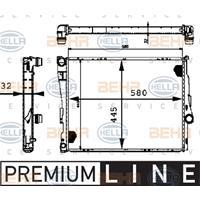 Kühler, Motorkühlung 'PREMIUM LINE'   MAHLE (CR 458 000P)