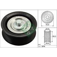 Geleide rol/omdraairol v-snaren INA, 71 mm