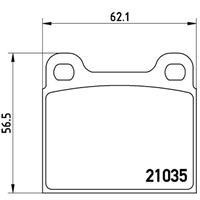 Bremsbelagsatz, Scheibenbremse | BREMBO (P 50 066)