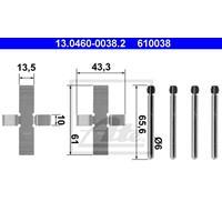 Zubehörsatz, Scheibenbremsbelag | f.becker_line (105 10050)