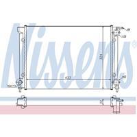 Kühler, Motorkühlung   NISSENS (651811)