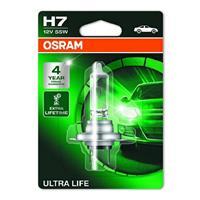 Osram Auto Halogen Leuchtmittel Ultra Life H7 55W 12V Y112771