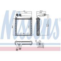 Wärmetauscher, Innenraumheizung | NISSENS (73979)