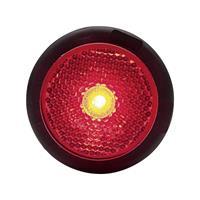 WAS LED-Begrenzungsleuchte rot 95680 Markeringslicht Markeringslicht, Reflector, Achterlicht Achter 12 V, 24 V Rood