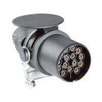 Secorüt SecoRüt 40110 Aanhangerstekker [Stekkerdoos, 15-polig - Stekker, 15-polig] ABS kunststof