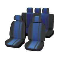 Unitec 84959 Newline Sitzbezug 14teilig Polyester Blau, Schwarz Fahrersitz, Beifahrersitz, Rücksitz Q413121