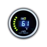 raidhp Raid hp Kfz Einbauinstrument Abgastemperaturanzeige Messbereich 0 - 1250°C NightFlight Digit
